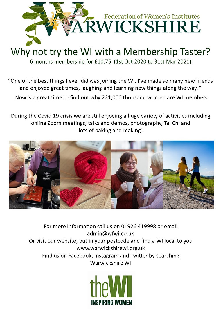 Why Not Try The WI - Membership Taster P
