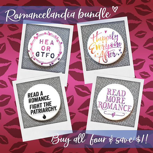 Romancelandia Button Bundle