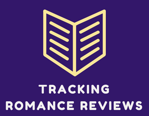 "Just clip art of a book that says ""tracking romance reviews"""