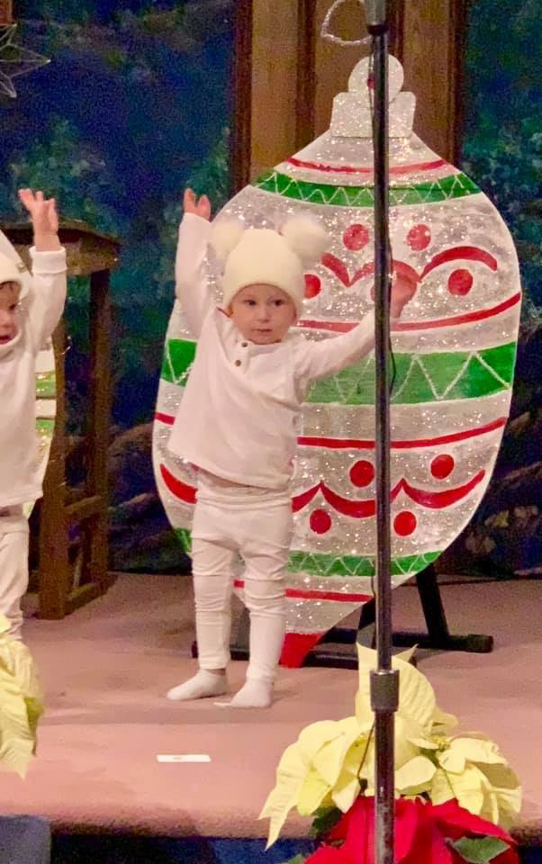 Little ones at The Nest celebrating the birth of Jesus.