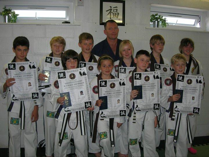 OJJ's 1st Junior Black Belts