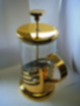 gold paled coffee maker