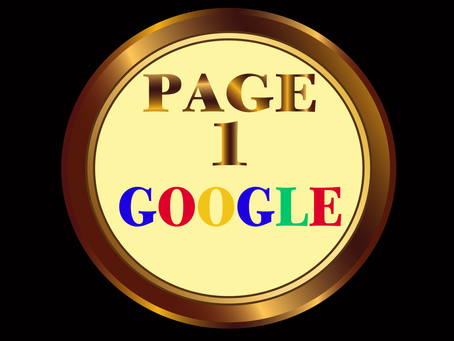 Getting on page 1 Google is simple