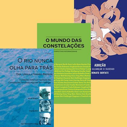 Kit 3 livros: O rio nunca olha para trás, O mundo das constelações e Adoção
