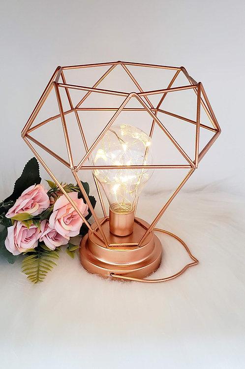 Abajur luminária LED diamante á pilha