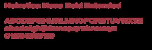 Example of Helvetica Neue typeface