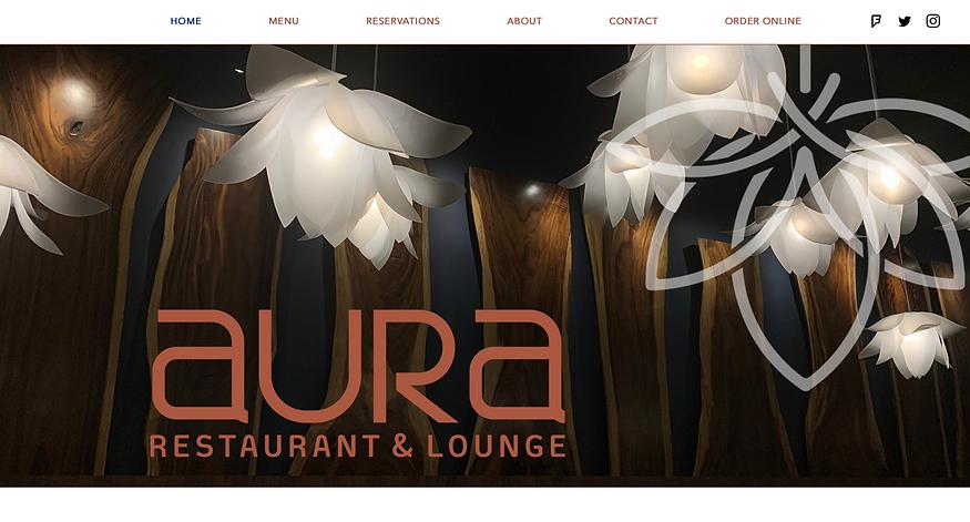 Screenshot of Aura's website