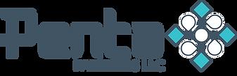 Penta's alternate logo. Says Penta Partners LLC with a stylized diamond placed next to it