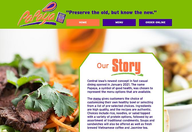 Screenshot of Papaya's website