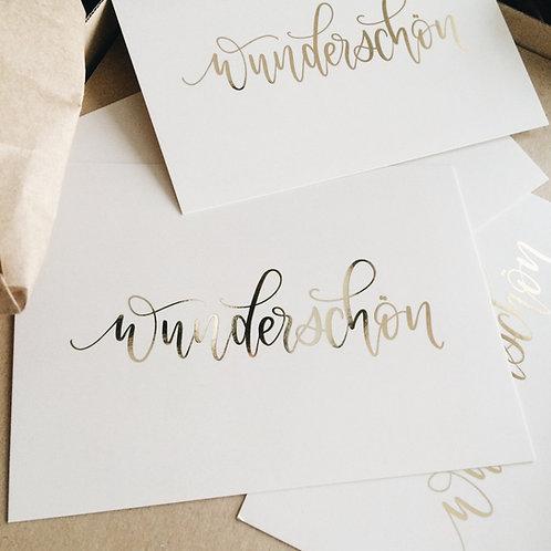 «wunderschön» Fine Postcards (10 Stk.) - b2b