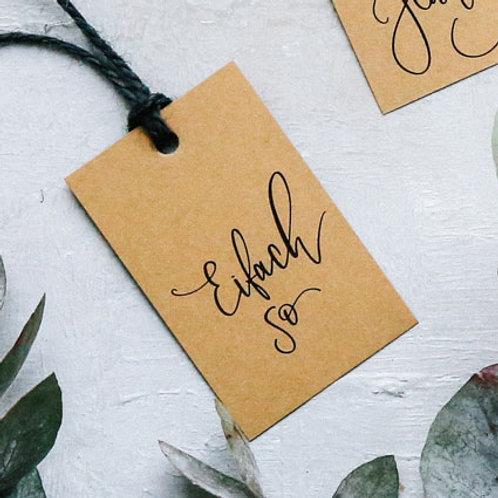 «Eifach so» - Fine Gift Tag | Geschenkanhänger (20 Stk.) - b2b