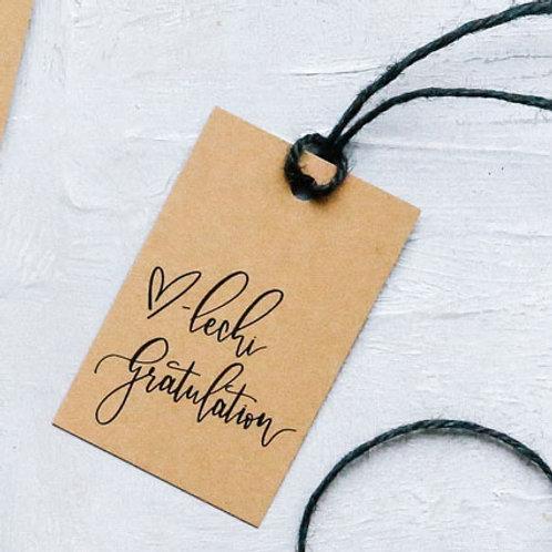 «Härzlechi Gratulation» - Fine Gift Tag | Geschenkanhänger (20 Stk.) - 2b2