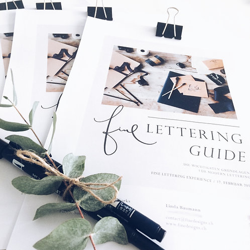 Fine Lettering Guide - English (PDF Download)