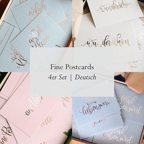 4er Set Fine Postcards | Postkarten assortiert