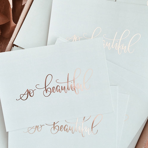 «so beautiful» Fine Postcards | Postkarten (10 Stk.) - b2b