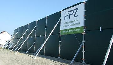 Sichtschutz, Staubschutz und Lärmschutz bis zu  7m hoch