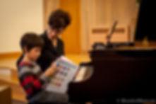 Stephanie Emery teaching a piano lesson in Thousand Oaks, CA.