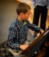 Piano Teacher Stephanie Emery student during piano recital in Thousand Oaks CA 91360