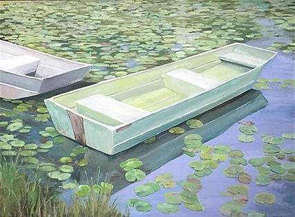 Kensington Rowboats 18 x 24 oil
