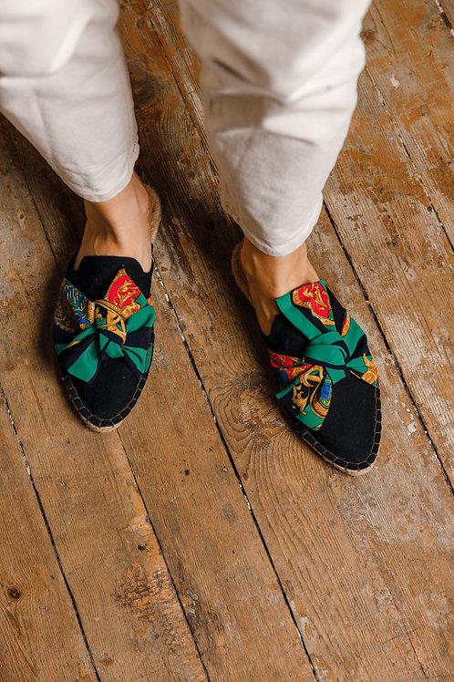 Pointed Toe Black Loafers Espadrilles DIY Kit Women
