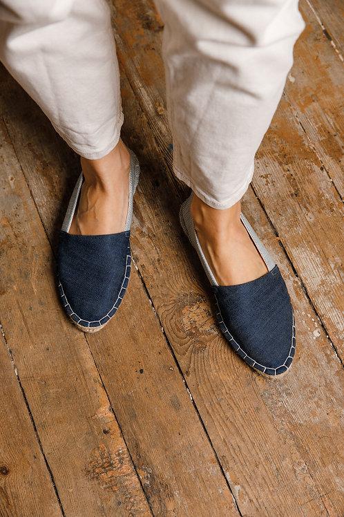 Pointed Toe Espadrilles DIY Kit Blue Jeans