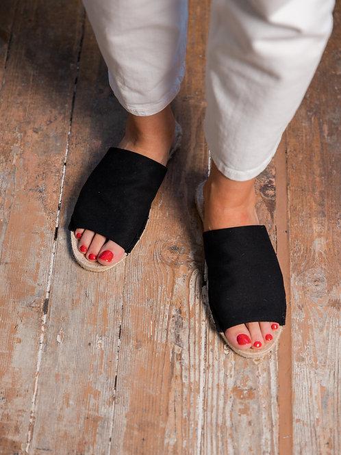 Black Slippers Espadrilles Women