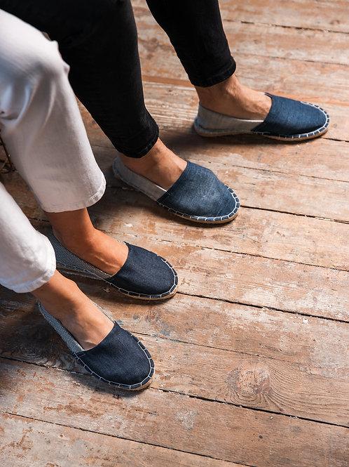 Couple Matching Espadrilles Blue Jeans