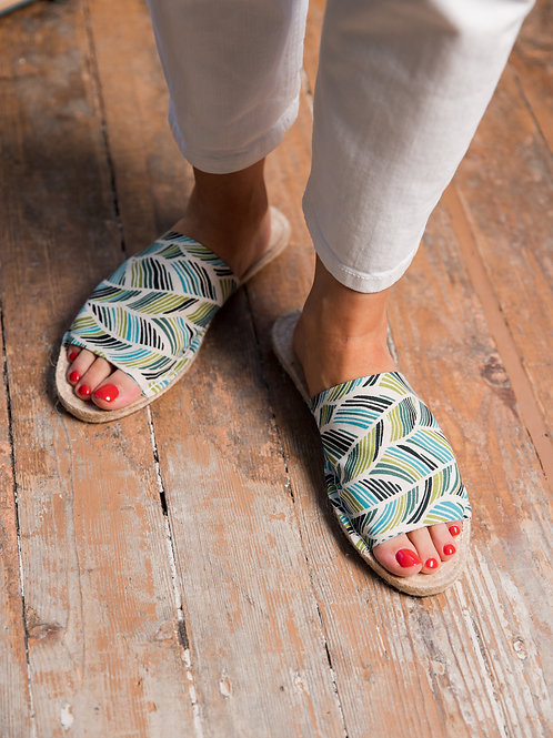 Tropical print Slippers Espadrilles Women