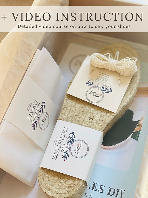 THE SUSTAINABLE DIY Women Espadrilles Loafers kit