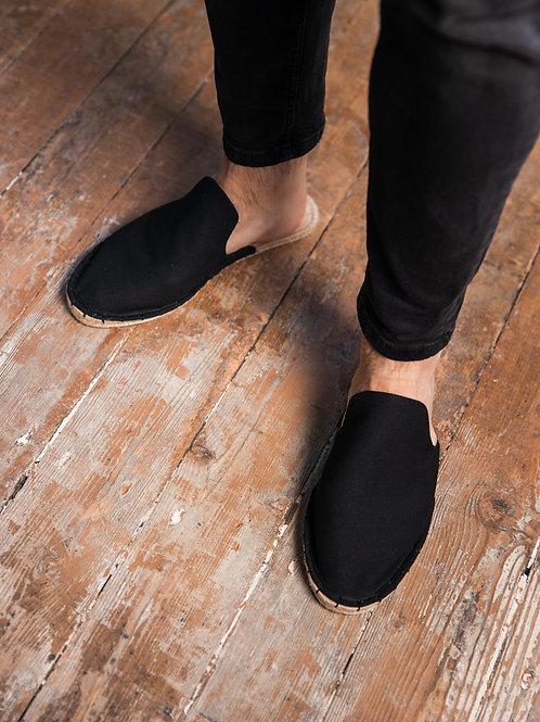 Black Loafers Espadrilles Men