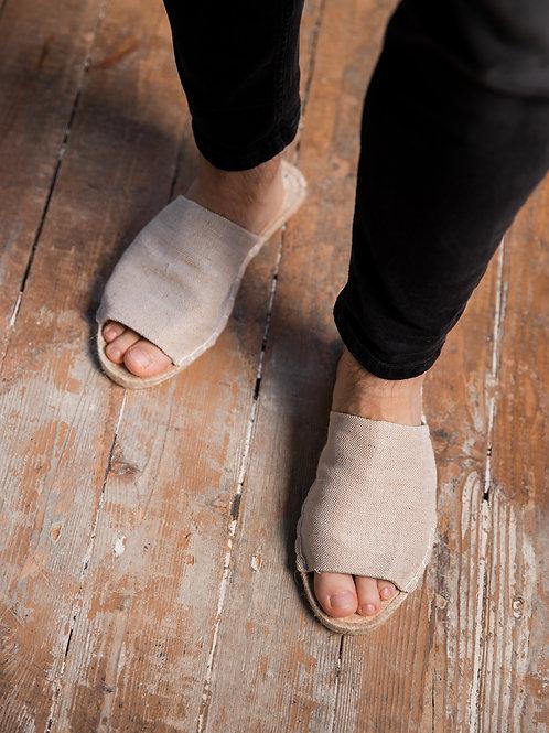 Beige Slippers Espadrilles DIY Kit Men