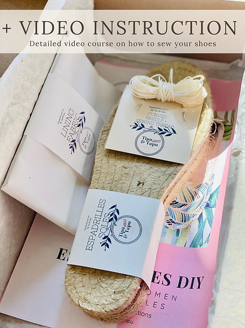 THE SUSTAINABLE DIY Women Classic Espadrilles kit