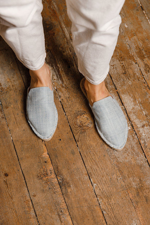 Pointed Toe Blue Loafers Espadrilles DIY Kit Women
