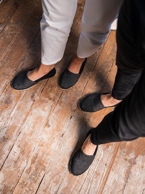 Couple Matching Espadrilles DIY kit Black Jeans