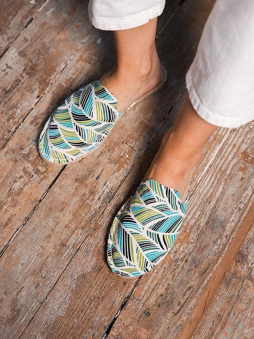 Tropical print Loafers Espadrilles DIY Kit Women