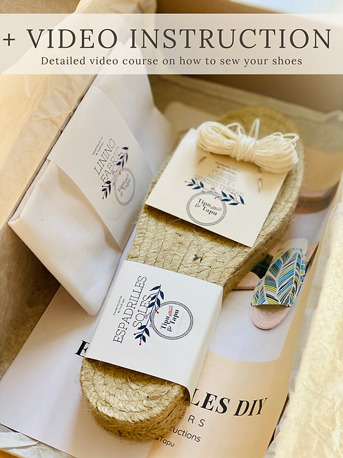 THE SUSTAINABLE DIY Women Espadrilles Slippers kit
