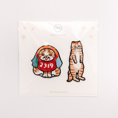 Funny Cats Embroidered Iron-On Patches