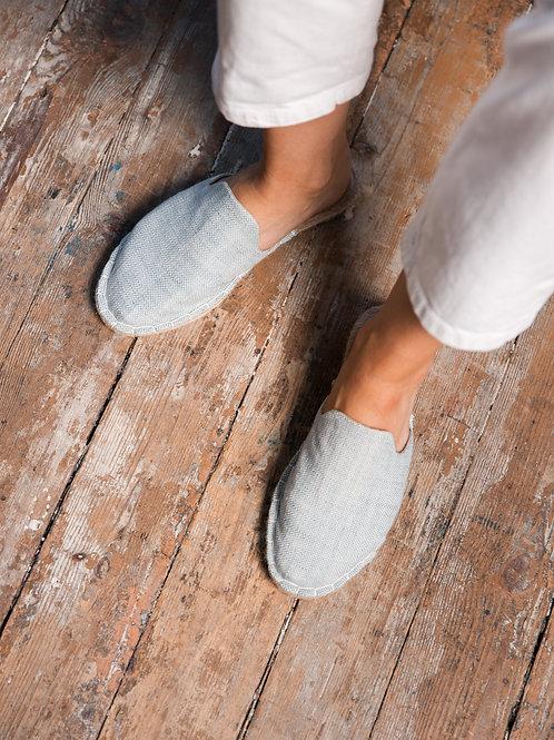 Blue Loafers Espadrilles Women