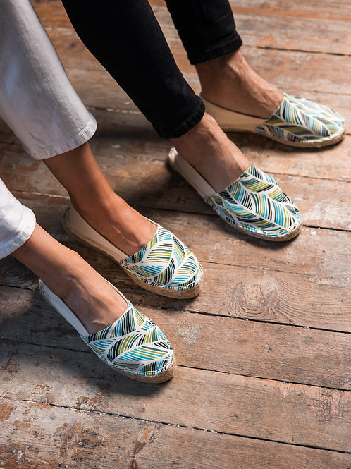 Couple Matching Espadrilles DIY kit Leaf print