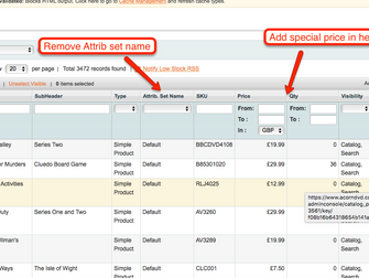 Special Pricing Column in Magento Admin Panel