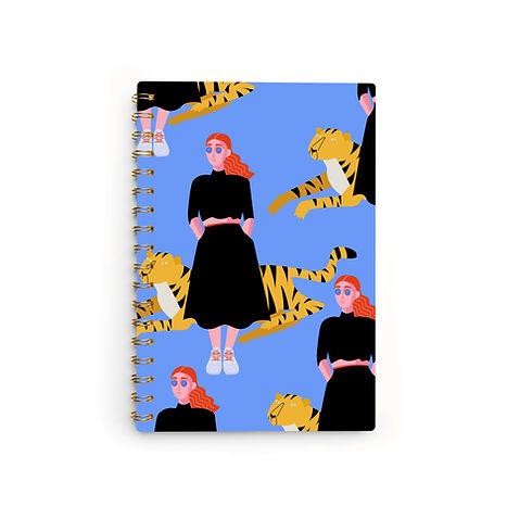 Chica con Tigre Notebook