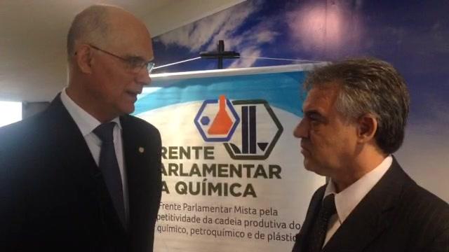 Entrevista com o presidente da Frente Parlamentar da Química, deputado João Paulo Papa (PSDB-SP) durante café da manhã realizado no Senado Federal.