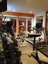 Weight room treadmill fitness training studio
