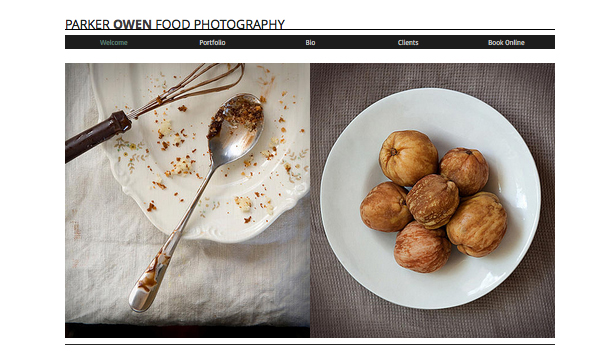 Commercial & Editorial website templates – Food Photography