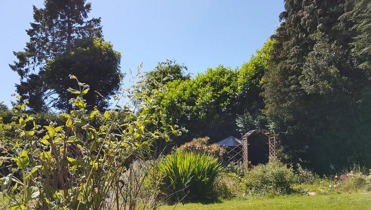 Recording studio garden