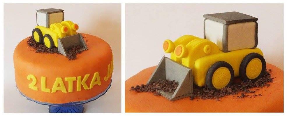 Tort z koparką