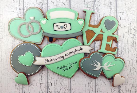 Pierniczki, ciasteczka, upominki dla gości, chrzest, roczek, dziecko