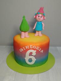 Torty urodzinowe dla dzieci, trolle, dla dziewczynki