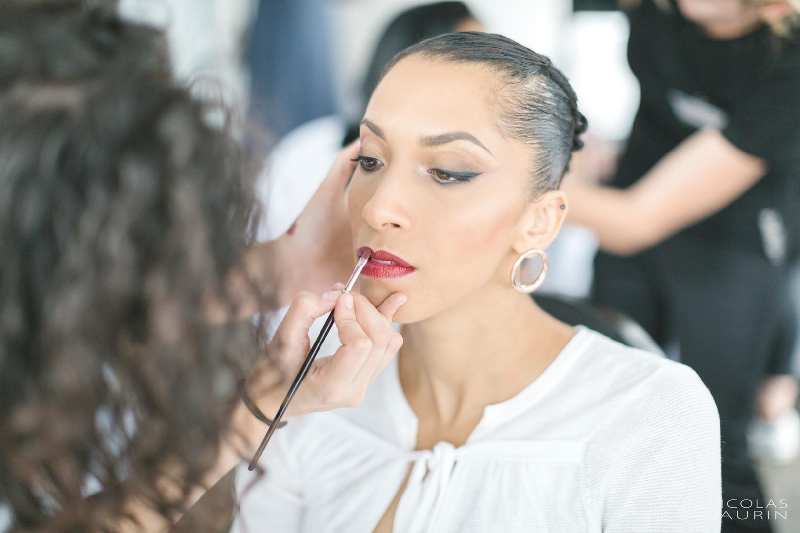 Maquillage invitée sur peau métisse