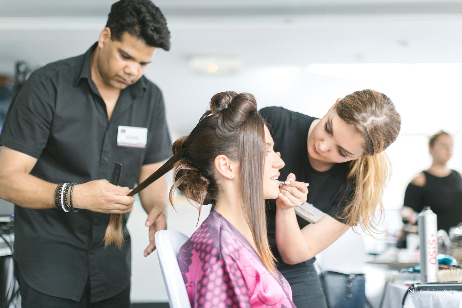 Prestation coiffure et maquillage mariée par D&Z Agency